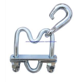 Crochet pour collier de travail chevaux