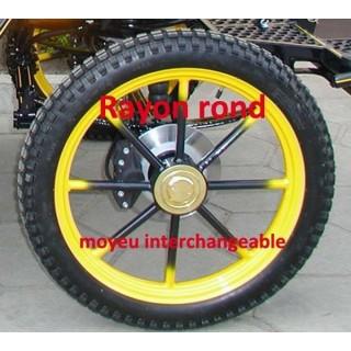 roue pneumatique de voiture attelage
