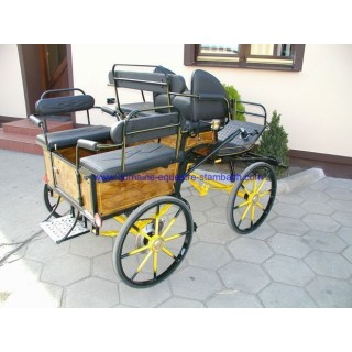 Wagonnette hippomobile pour poneys