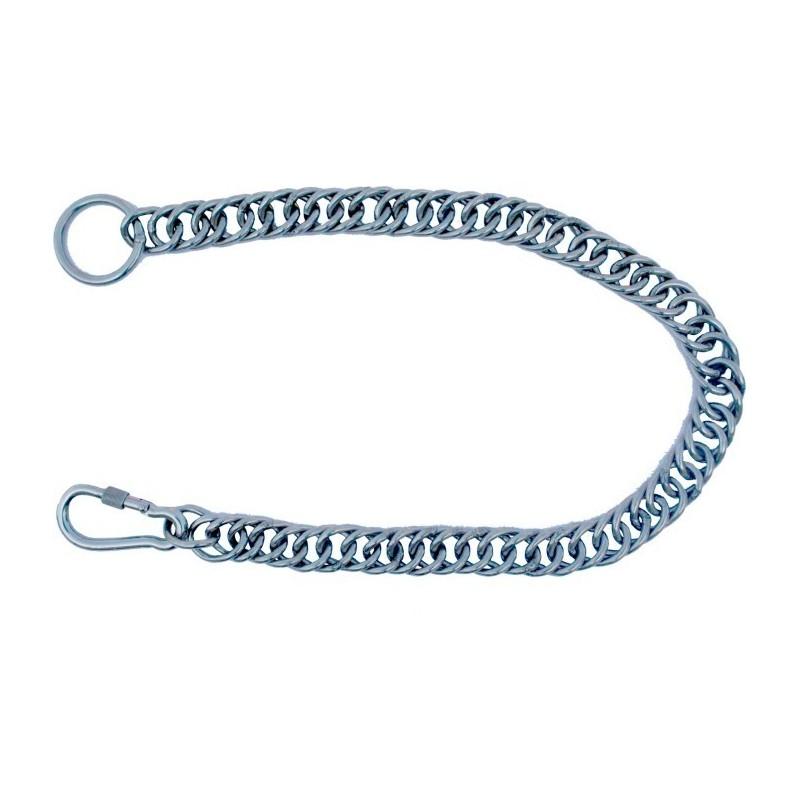 Chainette métallique en inox pour timon d'attelage