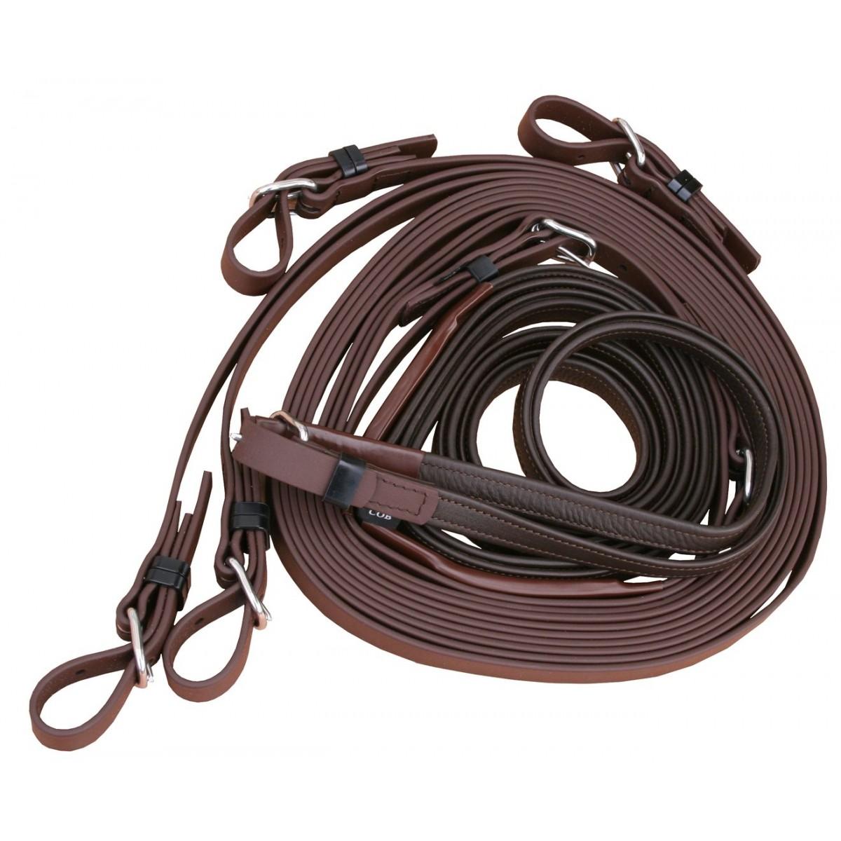 Guide Arden en simple biothane et cuir pour chevaux