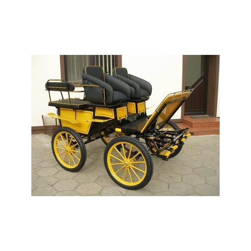 voiture hippomobile wagonnette cole pour atteler des poneys. Black Bedroom Furniture Sets. Home Design Ideas