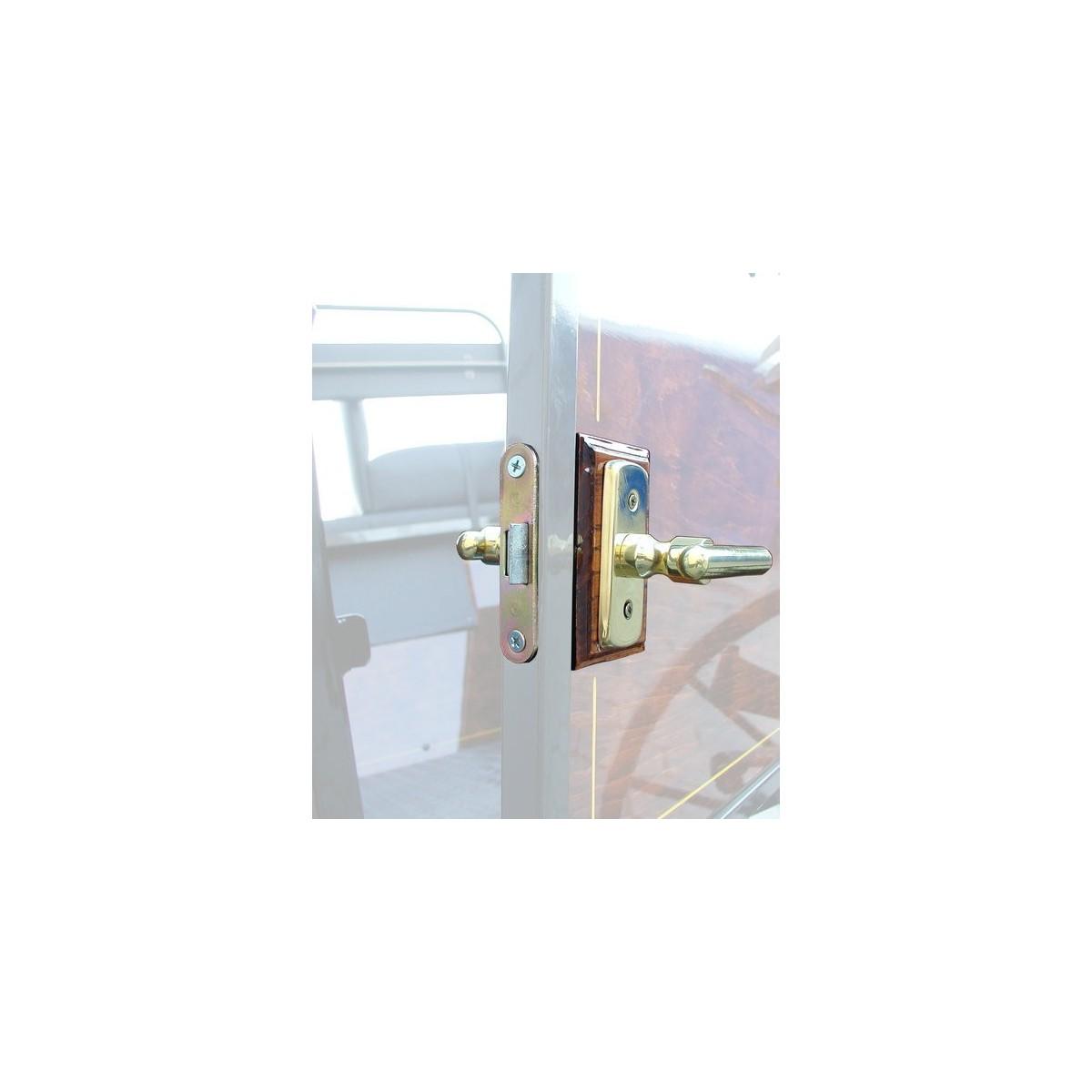 poign e avec serrure pour caleche et voiture attelage hippomobile type de l 39 acier chrome poli. Black Bedroom Furniture Sets. Home Design Ideas