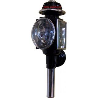 Lanterne cylindrique exclusive noir laiton
